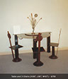 image of Table and 3 Chairs